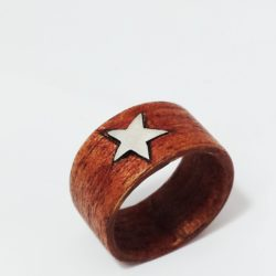 Anello wood silver star