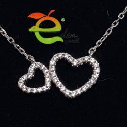 Collana cuori con Zirconi eden gioielli
