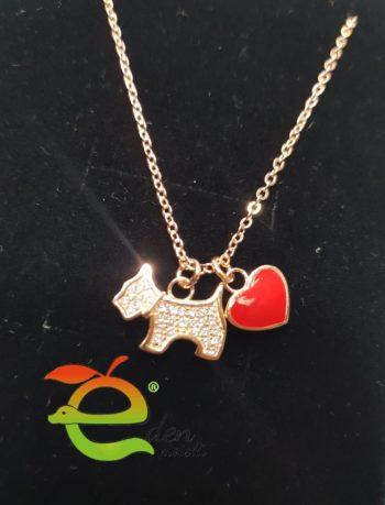 Collana cuore cane eden gioielli Aversa