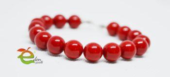 Bracciale Coralli Rosso Eden Gioielli