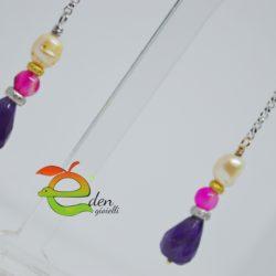 Orecchini Ametisa - Perla - Argento - Eden Gioielli