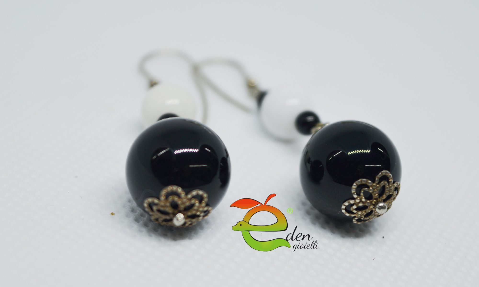 Orecchini Black White Eden Gioielli