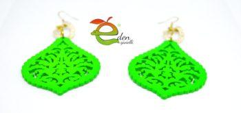 Orecchini Legno e Maglia Alluminio Eden Gioielli
