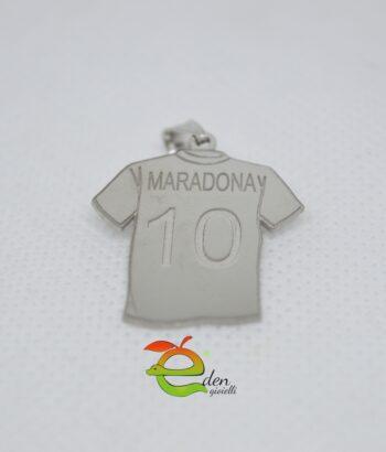 Maglia Maradona Argento Eden Gioielli