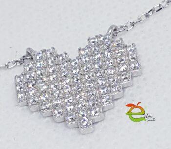 Collana Cuore Pavè eden gioielli (1)