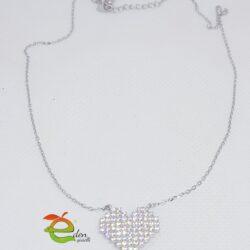Collana Cuore Pavè eden gioielli