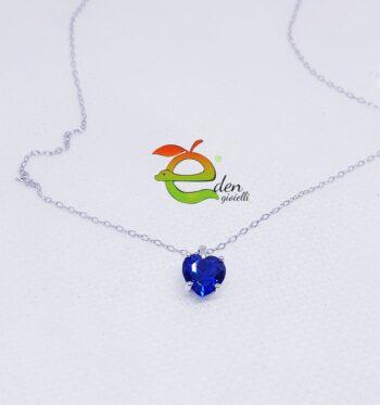 Collanina Cuore Blu eden gioielli